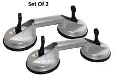 Set di due in alluminio Dual doppia ventosa vetro Lifter Dent Puller 80KG 2pc