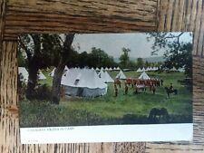 Ww1 Era Canadian Militia Postcard Military Camp Warwick Bros & Rutter Toronto