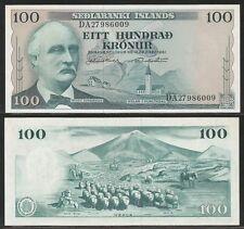 ISLANDA / ICELAND - 100 Kronur L.1961 Pick 44a  UNC