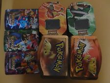 7 Empty Pokemon Trading Card Tins