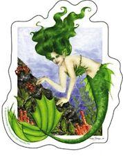 "Nedda Green Mermaid Darya Ocean vinyl Sticker Decal Print New 4""x5"" tropical"