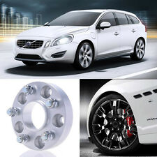 2pcs 25mm Thick PCD 5x108 63.4CB Aluminum Wheel Spacers Adapters For Volvo V60