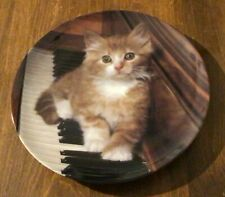 """1993 Crestley Collection """"Kitten On The Keys"""" Picture Purrfect Collector Plate 1"""