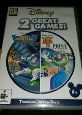 Disney 2 Great Games - Buzz Lightyear & Toy Story 2 Print PC GAME- FREE POST *