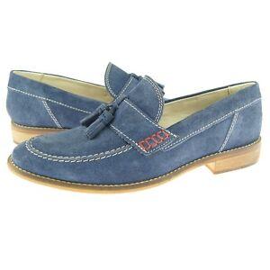 "Testosterone ""Proud Lee"" Tassel Loafer, Men's Casual Slip-on Summer Shoes, Blue"