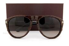 Brand New Tom Ford Sunglasses TF 0347 347 Kurt 05K Woodgrain/Brown For Men