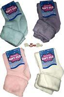 3 Pairs Of Ladies Bed Socks Thick Warm Brushed Thermal Fleece Gentle Loose Top
