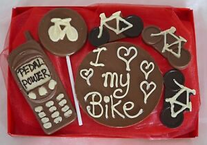 Hand-made Belgian Chocolate Cycling/Bicycle Lovers Gift Box