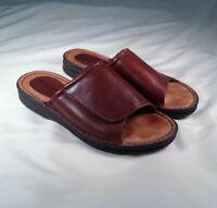 Minnetonka Sandals Slip On Strap Leather Brown Women's Size 8