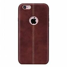New Vorson Double Stitch Leather Shell Back Case for Apple iPhone 6/ 6S BROWN