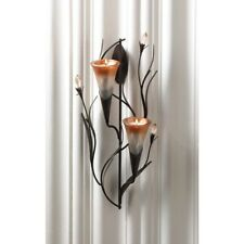 Wall mounted tea light candle sconces ebay dawn lilies candle wall sconce candle holder double sconce wall decor new aloadofball Image collections