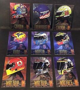1996 Press Pas VIP HEAD GEAR Complete INSERT SET of 9 Cards EARNHARDT GORDON +++