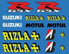 Motorbike Rizla + Set Exterior Vinyl Decals x 14 Motul GSX R Motorcycle Stickers