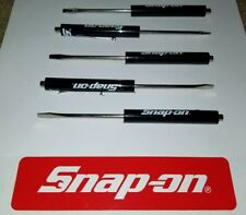 5 Black Snap on tools screwdrivers per order  . pocket screwdriver . magnet end
