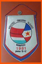 Budapest 1981 Pennant Flag PZL WSK Mielec Sofk Zvezdara Beograd SCEPEL SC  1912