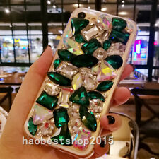 3D Luxury Bling Diamond Rhinestone Case Girls' Soft TPU Back Phone Cover Skin A