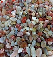 Multicolor Agate WATERFALL BOTSWANNA GEMSTONE CHIP 1/2LB Tumbled Reiki Stones