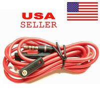 Original 3.5mm Audio Cable/ L Cord/ for Beats by Dr Dre Headphones Aux & Mic