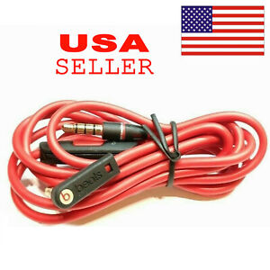 Original 3.5mm Audio Cable/ L Cord/ for Beats by Dr Dre Headphones Aux & Mic