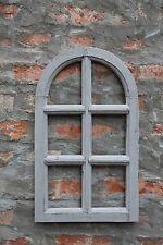 Dekorahmen Fenster Holz Dekofensterrahmen Holzfenster 48x29 grau Shabby Chic