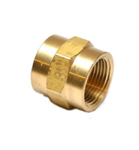 3/4 Npt Female Fip Straight Coupling Brass Pipe Fitting Air Water Oil Gas Fuel