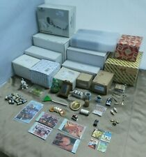 Dollhouse Miniature Furniture Lot Bedroom Set Tables Chairs Mirror Fireplace etc