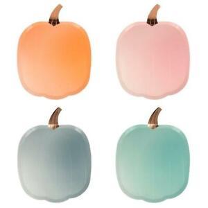 MERI MERI HALLOWEEN Pastel Ombre Pumpkin Plates (8 Pack)
