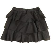 gonna corta donna cotone balze minigonna elastico