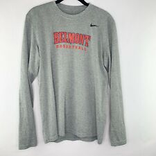 Nike Dry Fit Long Sleeve Shirt Belmont Bruins Basketball Gray Size Medium