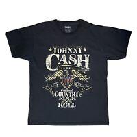 Johnny Cash Country Rock N Roll Official Merch Black Men's T Shirt Large L 2018