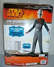 Star Wars The Inquisitor Halloween Costume & Mask Boy's Size 8-10 New, Sealed!