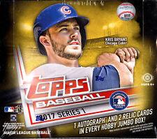 2017 Topps MLB Series 1 Baseball Trading Cards SEALED JUMBO (HTA) BOX