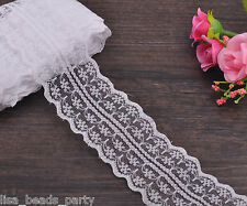 200yards 45mm Width Fabric Lace Fringe Applique Trim Sewing DIY Crafts White Hot