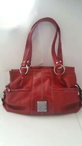 Tignanello Perfect Pockets Red Leather Handbag