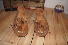KANGAROO Fur Lined Leather Slippers 11.5 KANGAROO LOAFERS 11.5 KANGAROO SHOES