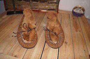 KANGAROO Fur Lined Leather Slippers 11.5 KANGAROO LOAFERS 11.5 KANGAROO SHOES