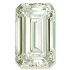 6.01 ct Vs1 Off White Light Green Color Emerald Loose Moissanite 4 Ring/Earrings