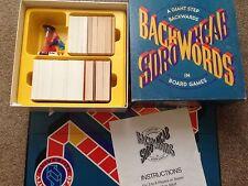 BACKWORDS Backwards Vintage Retro 1980 80s Family Party Fun Word Board Game