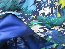 Pure Silk Spotlight Warehouse strapless Club dress in Jungle blue colours size12
