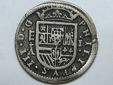 1621 SEGOVIA 1 REAL PHILIP III SPANISH SPAIN COLONIAL SILVER
