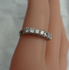 14KT WHITE GOLD DIAMOND RING 7 DIAMONDS ACROSS TOP RING SIZE 5.5