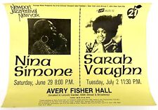 Nina SIMONE & Sarah VAUGHAN (Jazz): 1974 Newport Jazz Festival NY Poster