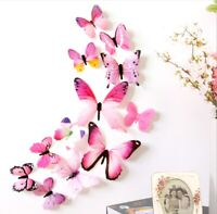 3D Butterfly Wall Decor Cute Butterflies Wall Stickers Art Decals hot sale Gift