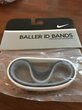 Nike Baller ID Bands Wristbands Bracelets New In Package Navy White Clear