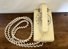 Vintage Kellogg Itt Wall Mounted Rotary Telephone Extra Long Cord Beige Working