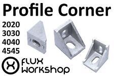 Corner Bracket Aluminium Profile 20 30 40 45 Tnut CNC 3D Printer Flux Workshop