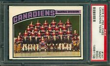 1976-77 OPC O PEE CHEE #141 Montreal Canadiens TEAM CARD PSA 9 oc MINT UNMARKED