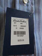 Brooks Brothers Shirt, Blue Stripe, M, Slim Fit, long sleeve, $225, NWT