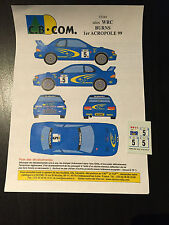DECALS 1/43 SUBARU IMPREZA WRC RICHARD BURNS RALLYE ACROPOLE 1999 RALLY ACROPOLI