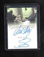 Game of Thrones Valyrian Mark Addy & Sean Bean autographed card